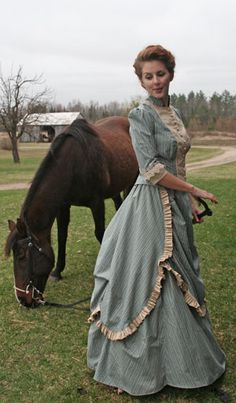 Etta Collier knows her way around horses, but as a seamstress, I can imagine her creating a delightful dress like this one.