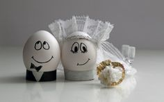 Preview wallpaper eggs, wedding, easter, decoration, couple