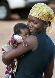 """""""The Hug""""--a picture of a mother hugging her baby. This is the main picture used for Imagine No Malaria's Mother's Day Campaign."""