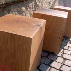 Holzhocker, Hocker Aus Holz, Sitzwürfel Aus Holz By CUBESTYLE