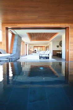 Love indoor pools, Kona Indoor Swimming Pool by Belzberg Architect Residence Architecture, Interior Architecture, Interior Design, Architecture Images, Sustainable Architecture, Indoor Pools, Decoration Design, Deco Design, Hawaiian Homes
