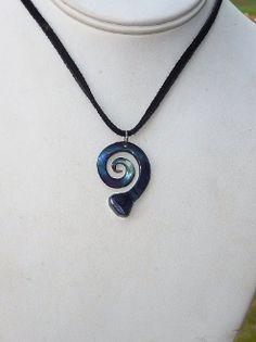 Swirled Horseshoe Nail Pendant Necklace.
