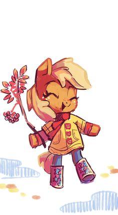 little Applejack by Holivi.deviantart.com on @deviantART