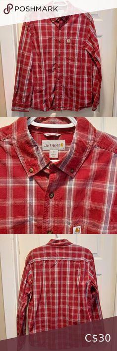 NWOT Carharrt mens size medium dress shirt New without tags, was too small for boyfriend. Carhartt Shirts, Plus Fashion, Fashion Tips, Fashion Trends, Dress Shirts, Boyfriend, Man Shop, Tags, Medium