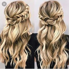 Looking for half up half down hairstyles here are stunning beautiful braid half up and half down hairstyle for romantic brides crown braid hairstyle braidedhairstyles crown braids brides crown braids brides Wedding Hair Down, Wedding Hairstyles For Long Hair, Down Hairstyles, Straight Hairstyles, Braided Hairstyles, Straight Updo, Short Hair, 1940s Hairstyles, Wedding Braids