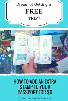 How to Add an Extra Stamp to your Passportfor $0 Europe On A Budget, Budget Travel, Travel Tips, Cheap Things To Do, Free Things To Do, Free Travel, Money Saving Tips, South America, Passport