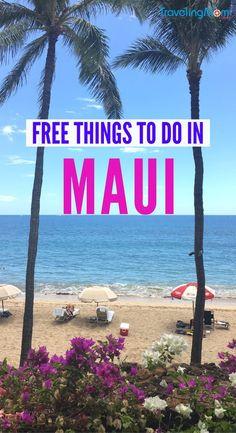 Free Things to Do in Maui: Plan Free Kaanapali Family Fun Visiting Hawaii on a budget? Find free things to do in Maui, from free hula lessons to lei making. Money-saving tips for your Hawaiian travels. Oahu, Kaanapali Maui, Lahaina Maui, Kahului Maui, Maui Honeymoon, Honeymoon Vacations, Honeymoon Ideas, Family Vacations, Dream Vacations