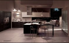 Metropolis Modern Kitchen Interior Decor - StyleHomes.net