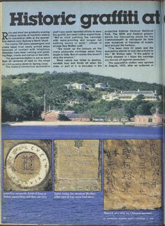 1978 Women's Weekly article about the rock carvings of the Quarantine Station.
