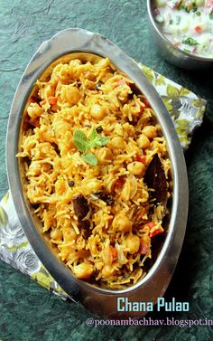 Annapurna: Chana Pulao / Spicy Chickpea and Rice Recipe – Famous Last Words Chickpea And Rice Recipe, Chickpea Recipes, Rice Recipes, Indian Food Recipes, Vegetarian Recipes, Ethnic Recipes, Rice Dishes, Food Dishes, Fresh Vegetables