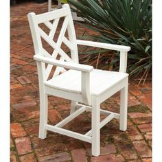 Outdoor POLYWOOD® Chippendale Recycled Plastic Dining Arm Chair - CDD200BL