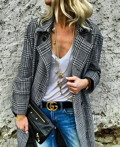 Long blazer - Gucci belt - Fashion for Women