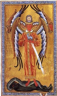 Hildegard of Bingen--fabulous medieval artist and theologian. Medieval Manuscript, Medieval Art, Illuminated Manuscript, St Hildegard, Romanesque Art, Kunst Online, Byzantine Art, Book Of Hours, Archangel Michael