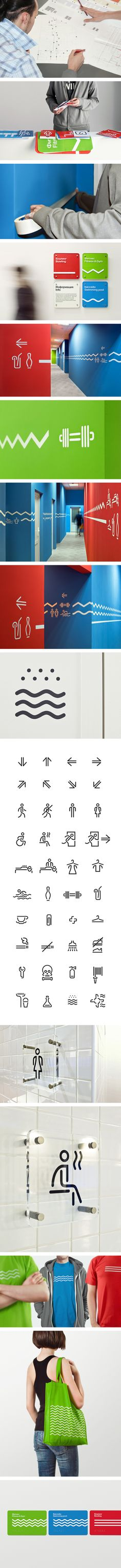 Wayfinding and identity for Voskresenskoe by TOMATDESIGN