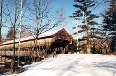 Image result for images covered bridges in snow