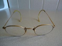 Vintage 12KGF Wire Rim Glasses In Case