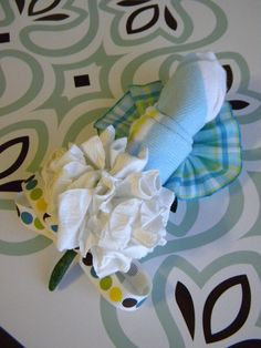 Baby Sock #Corsage #diy #idea