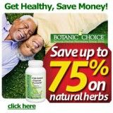 Natural herbs at up to a huge 75% discount - Natural means healthy!