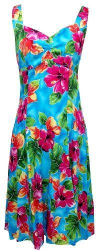 cd19da5451e39 Two Palms Womens Hibiscus Watercolor Empire Princess Flare Sundress at  Amazon Women s Clothing store