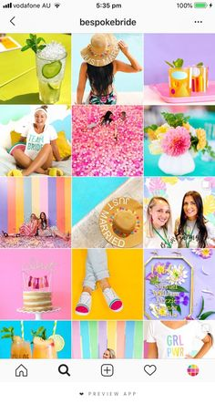 They can be with high saturation or light pastel colors. either way they are a very fun feed to maintain. the trick is to make sure the background of your
