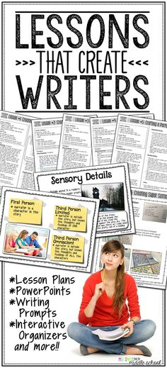 Lessons That Create Writers are exactly what their name denotes: writing lessons that will help turn your students into bonafide writers! Through direct instruction, guided practice, and independent practice, students will explore various literary elements that will help them improve their story telling. Then, through sharing and reflection, as well as formative assessment, students will solidify what they learned about crafting excellent writing pieces.
