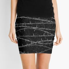 """""""Bouquets of Barbed Wire"""" Mini Skirt by GrandeDuc 