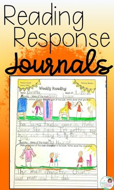 Reading response journal for first grade, second grade, and third grade students. Printable activities for fiction and nonfiction text. Reading Comprehension Activities, Reading Fluency, Reading Resources, Reading Strategies, Teaching Reading, Guided Reading, Comprehension Strategies, Reading Groups, Literacy Activities