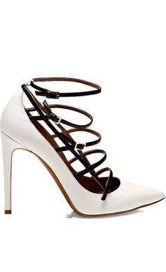 Tabitha Simmons● 2014, Strappy Leather Pumps