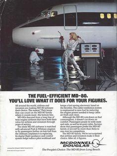 Plane Girl - Vintage MD-80 ad