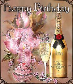 Happy Birthday Images, Happy Birthday Greetings, La Multi Ani Gif, Moet Imperial, Birthday Name, Moet Chandon, Name Day, Diy And Crafts, Birthdays