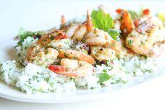 Salsa Verde Shrimp with Cilantro RiceDelish