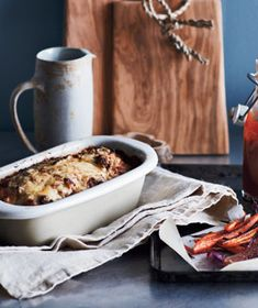 Bacon-Gruyère Meat Loaf With Roasted Carrots and Onions Recipe