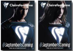 Pub Clairefontaine : les super-héros de la rentrée #septemberiscoming #digital #jetudielacom http://www.clairefontaine.com/septemberiscoming/