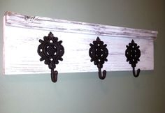 Hey, I found this really awesome Etsy listing at https://www.etsy.com/listing/218025682/rustic-coattowel-rack-made-from-recycled