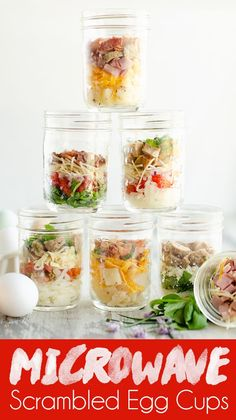 These Easy Microwave Scrambled Egg Cup Recipes are a great meal prep idea for a healthy breakfast that is hot and ready in just minutes! From All American Bacon & Cheese to Italian Chicken Sausage, there are 7 delicious varieties for a healthy breakfast o Healthy Breakfast On The Go, Healthy Breakfast Recipes, Brunch Recipes, Healthy Drinks, Healthy Snacks, Healthy Recipes, Breakfast To Go, Drink Recipes, Nutrition Drinks