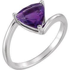 14k white gold #amethyst ring. Find it at a jeweler near you: www.stuller.com/locateajeweler #februarybirthstone #purplegem