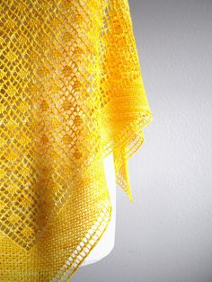 Blooming Shawl by Sachiko Uemura. malabrigo Lace in Sauterne colorway.