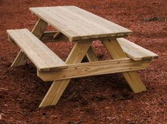 Wooden Youth's Picnic Table