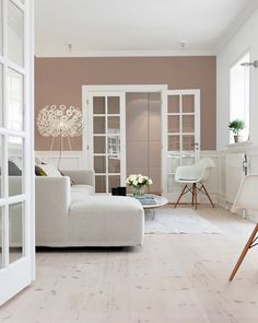 Farveinspiration: Maling af en enkelt væg - Lilly is Love Living Room Color Schemes, Living Room Colors, Living Room Designs, Living Room Decor, Home Panel, Scandinavian Living, Living Room Inspiration, My Room, Painting