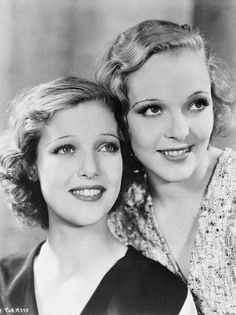 Loretta Young & sister Sally Blane