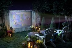 Plan a backyard movie night this spring for a fun date night with your spouse or a big party with your neighbors.