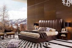Room with brown theme - Contemporary Headboard Ideas for your Modern Bedroom
