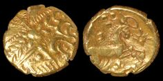 Celtic Iron Age Coins - Catuvellauni - Early Whaddon Chase Cogwheel Gold Stater