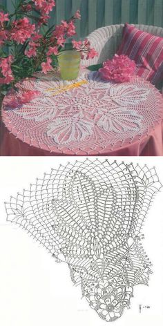 Crochet Rug Tutorial Crafts Ideas For 2019 Free Crochet Doily Patterns, Crochet Doily Diagram, Crochet Mandala, Crochet Art, Crochet Home, Thread Crochet, Crochet Motif, Vintage Crochet, Crochet Designs