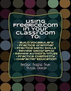 Download this document to see how you can use the website FreeRice.com with your students. It includes a student log so they can track their progre...