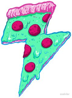 Thunder Neon Pizza by exeivier