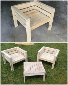 Easy Woodworking Ideas Using Old Wood Pallets Get this superbly designed creation of the wood pallet chair and table in your house! You cannot find a better place to have a seating arrangement as in manageable way other than that. The best feature of this