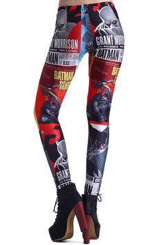 Comic Super Hero Print Leggings #Romwe