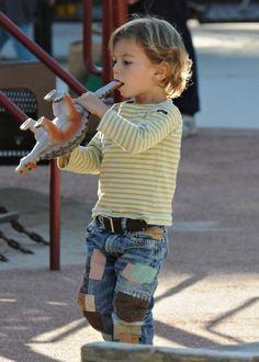 Celebabies Style - Kingston's Patch Jeans Tutorial