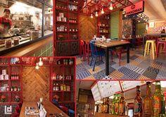 Sumo Sushi & Noodle Bar (Haarlem, The Netherlands) asian street restaurant interior Design: www.ludodesign.nl